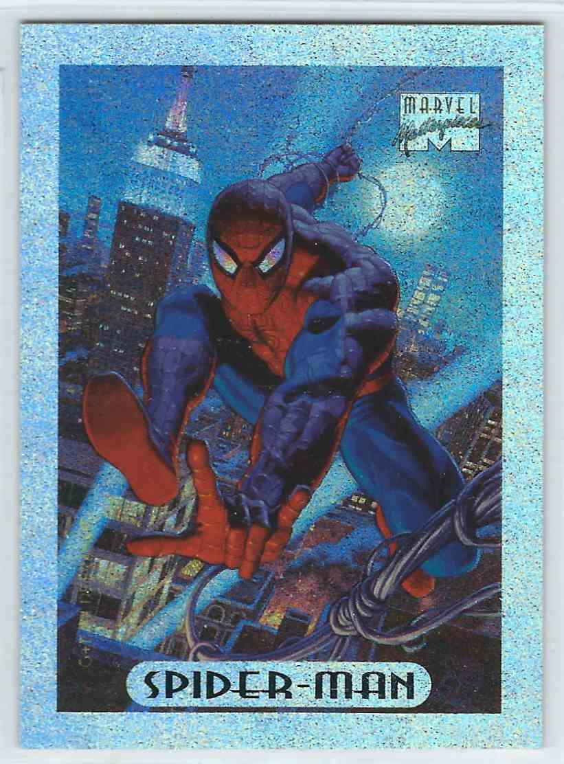 1994 Fleer Masterpieces Holofoil Spider-Man #8 card front image