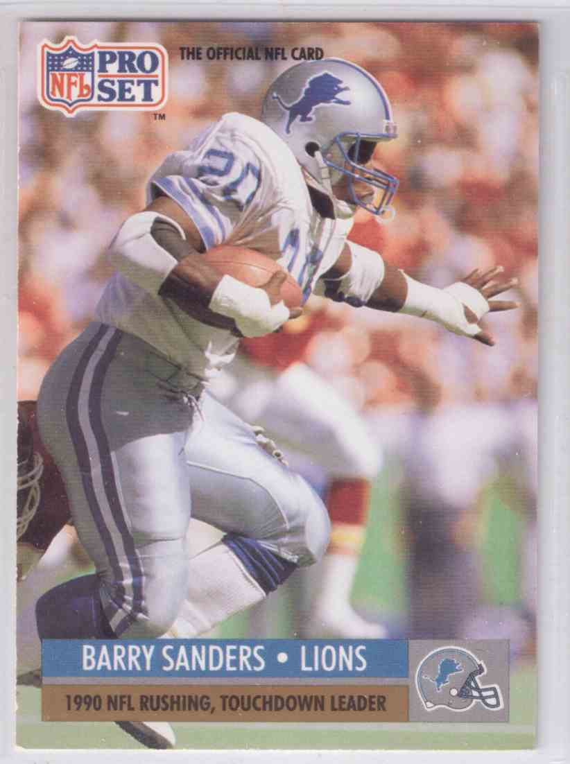 1991 Pro Set Barry Sanders 10 On Kronozio