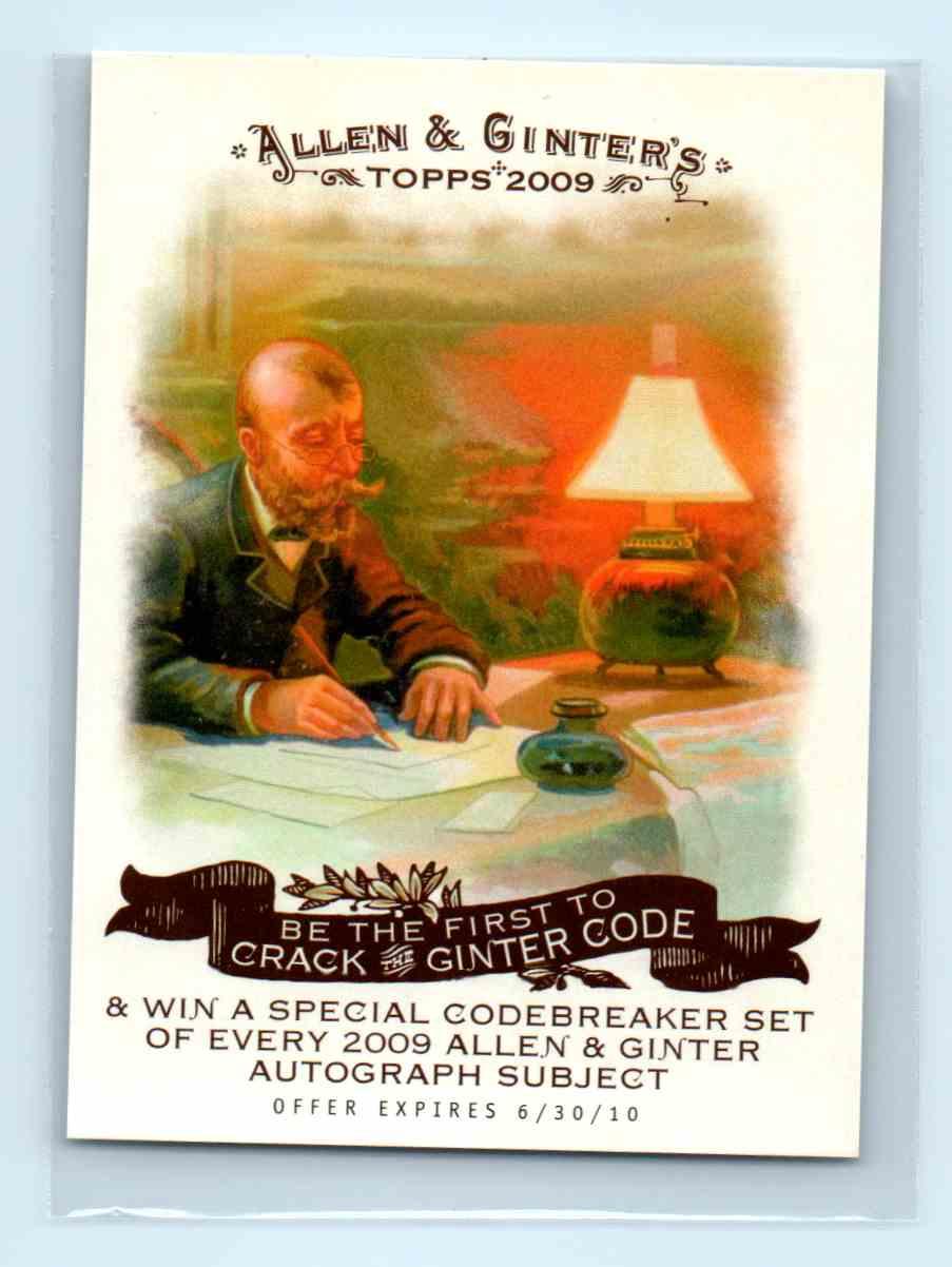2009 Topps Allen Ginter Checklist NNO Card Front Image
