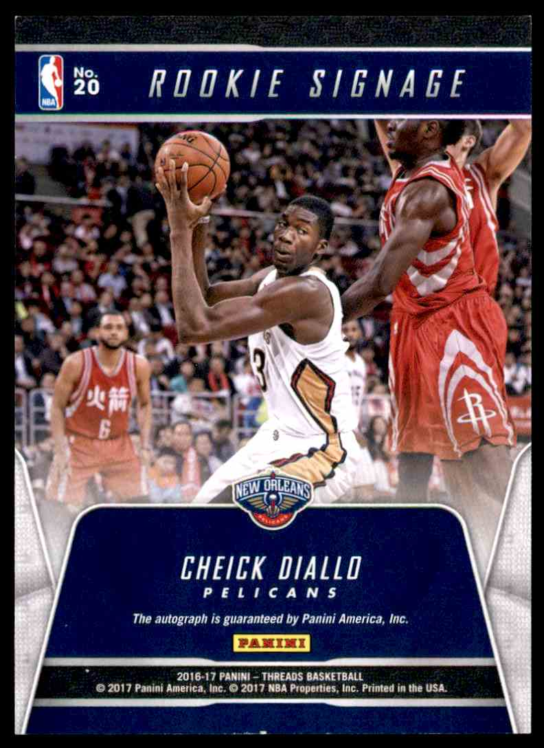2016-17 Panini Threads Rookie Signage Cheick Diallo - New