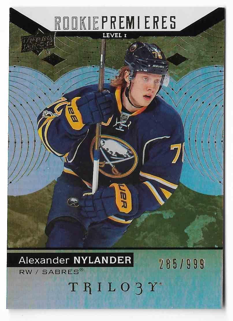 2017-18 Upper Deck Trilogy Alexander Nylander #70 card front image