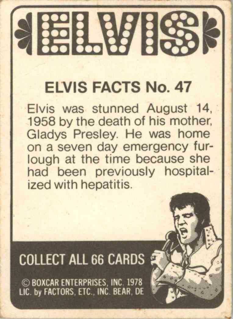 1978 Elvis Facts Elvis Was Stunned August 14, 1958 By #47 on