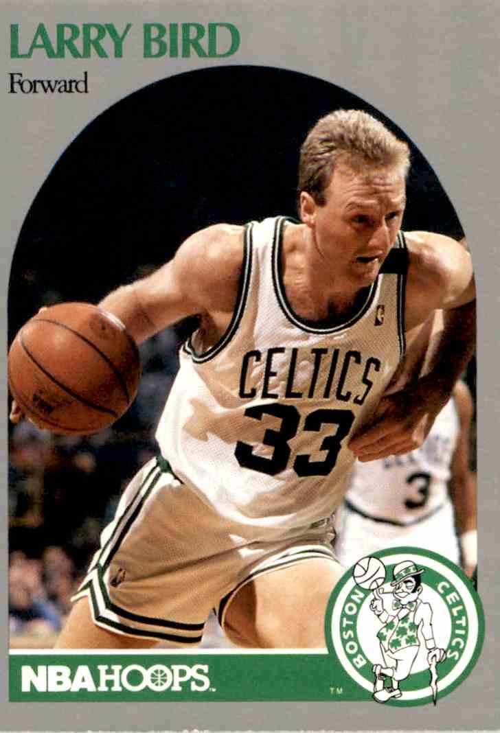 1990-91 NBA Hoops Larry Bird #39 card front image