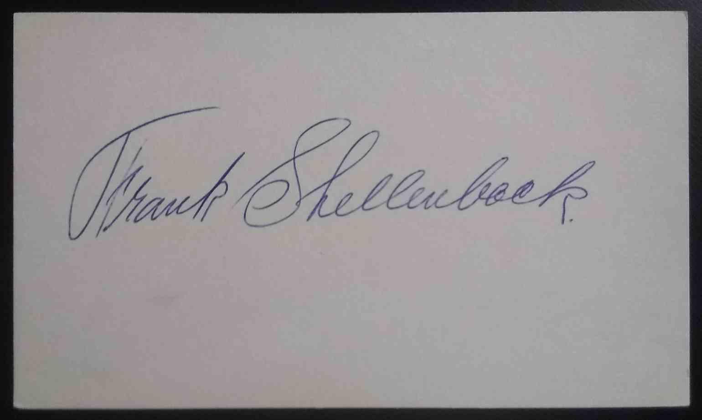 1919 3X5 Frank Shellenback card back image
