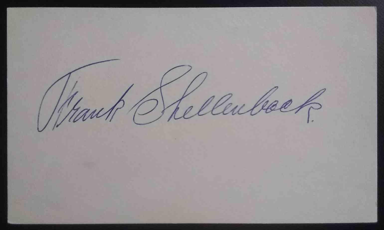 1919 3X5 Frank Shellenback card front image