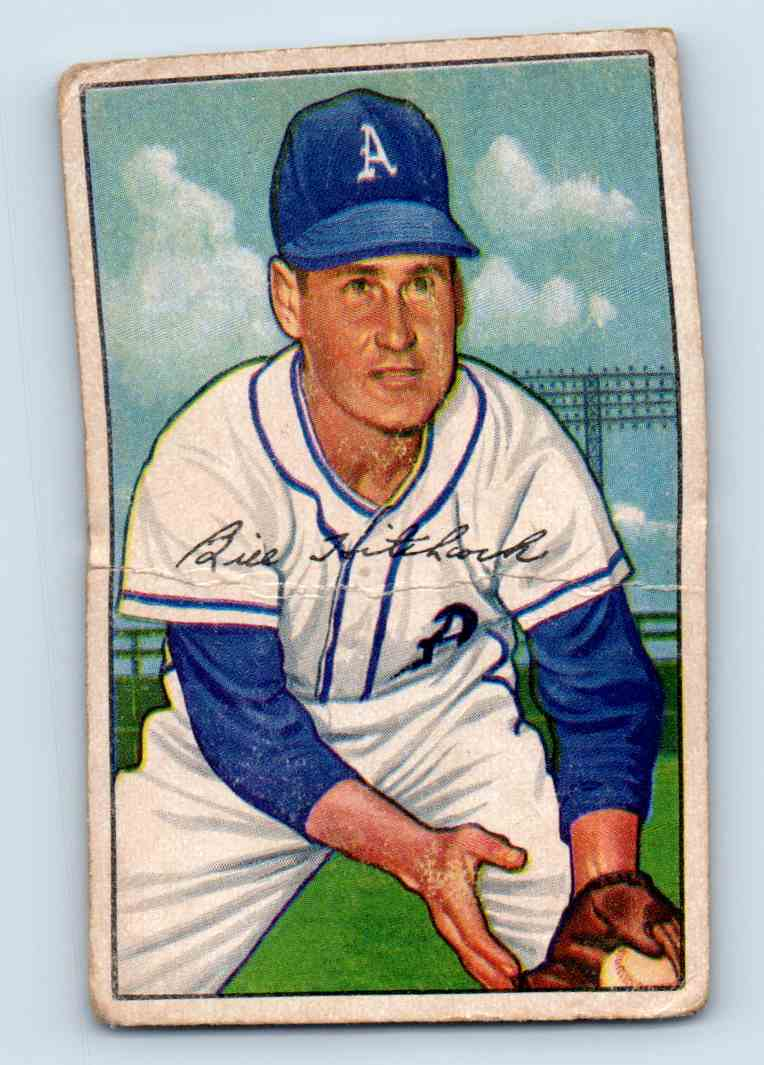 1952 Bowman Billy Hitchcock #89 card front image
