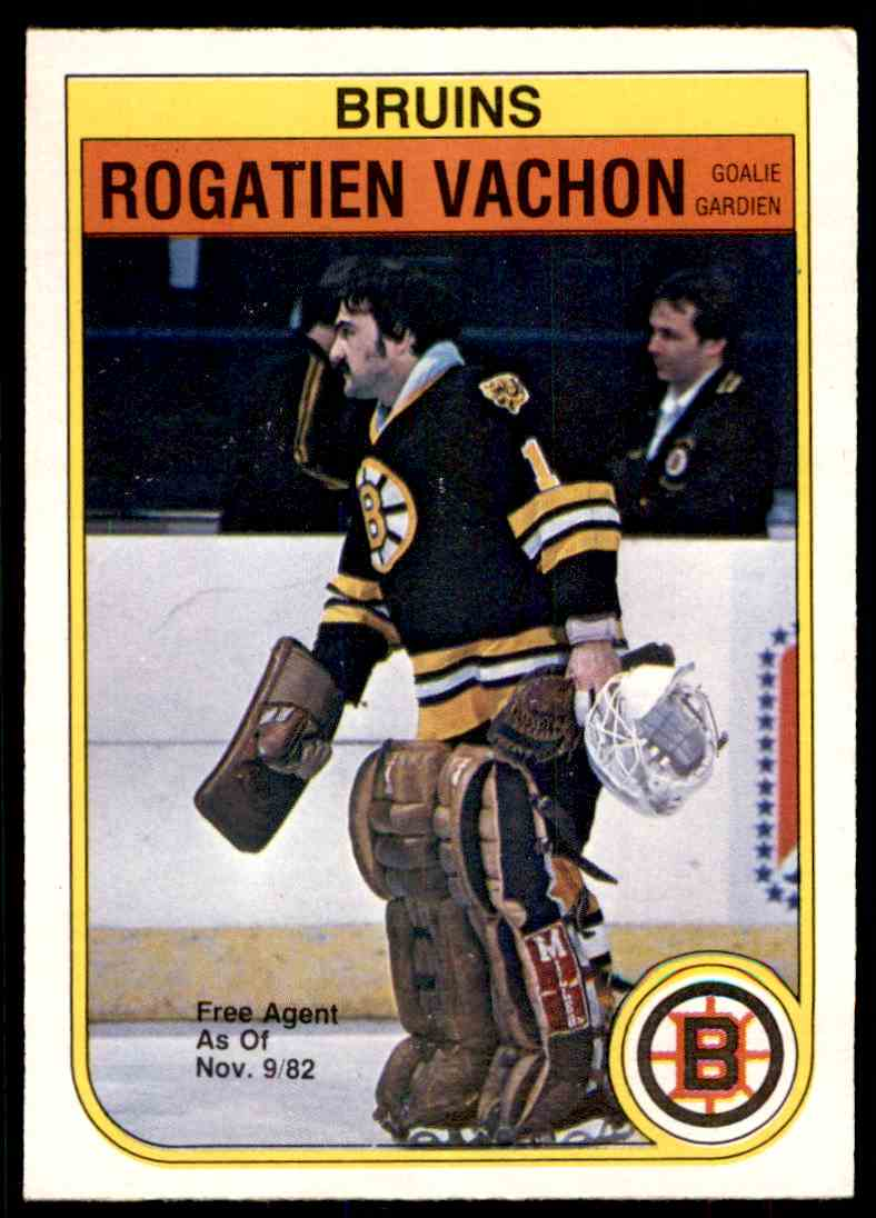1982-83 O-Pee-Chee Rogie Vachon #23 card front image
