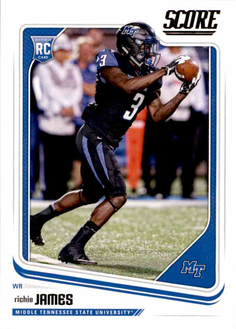 2018 Panini Score Richie James #407 card front image