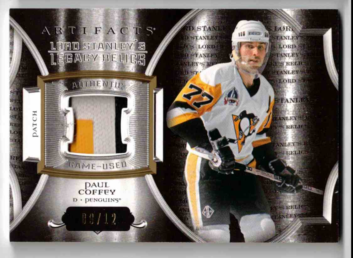2015-16 Upper Deck Artifacts Lord Stanley's Legacy Relics Gold Paul Coffey #LSLR-PC card front image