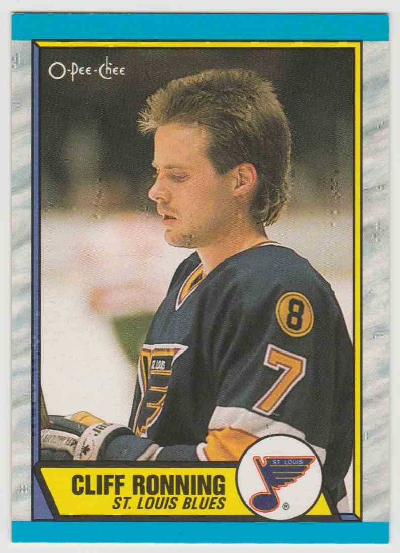 1989-90 O O-Pee-Chee Cliff Ronning #45 card front image