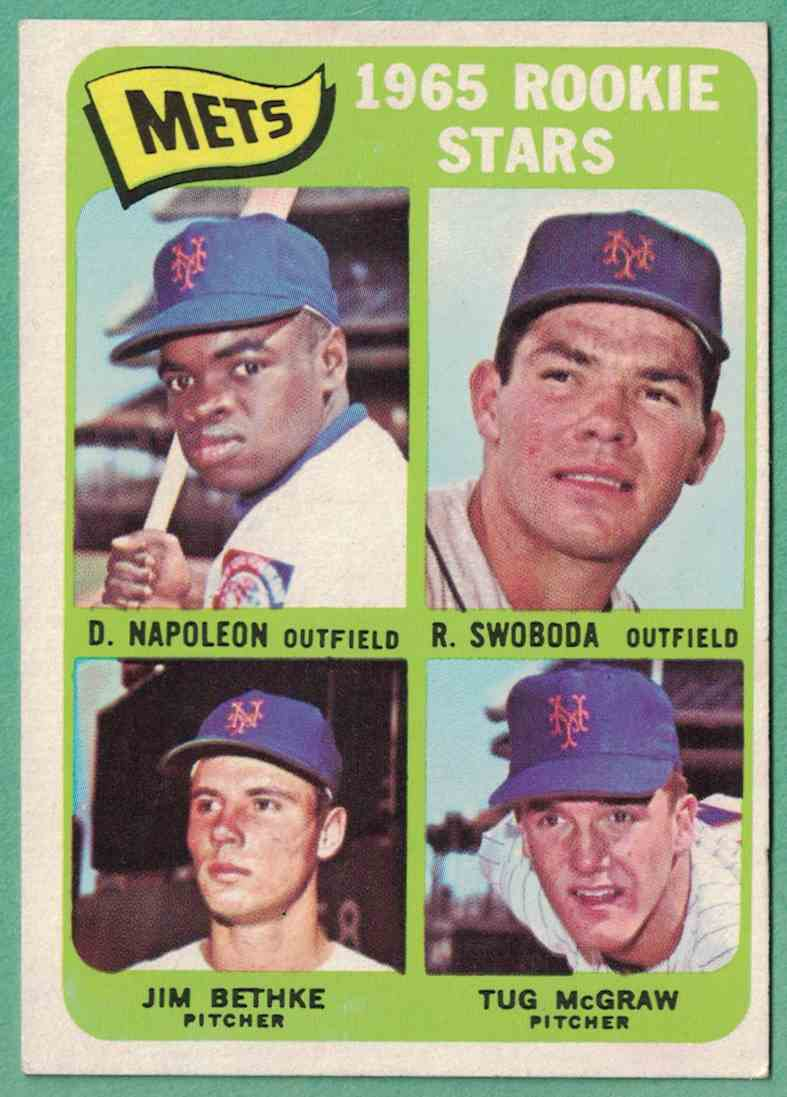1965 Topps Tug McGraw Ron Swoboda Mets Rookie Stars EX+ #533 card front image