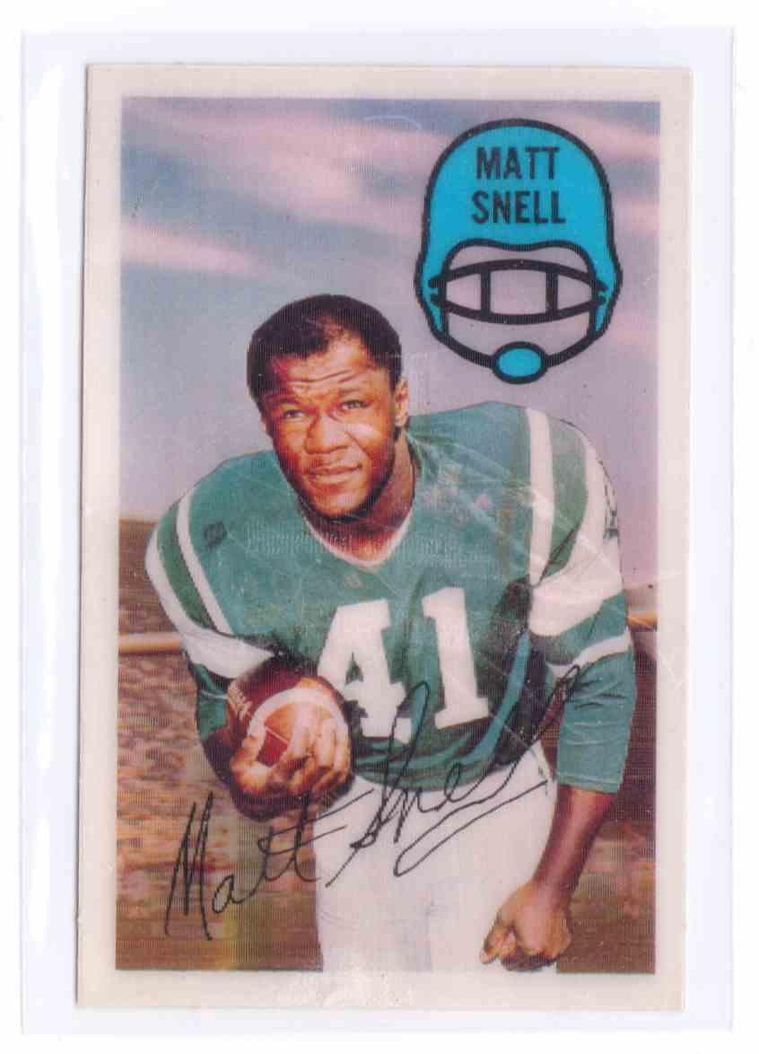 1970 N.F.L.P Association 3D Super Stars Matt Snell #29 card front image