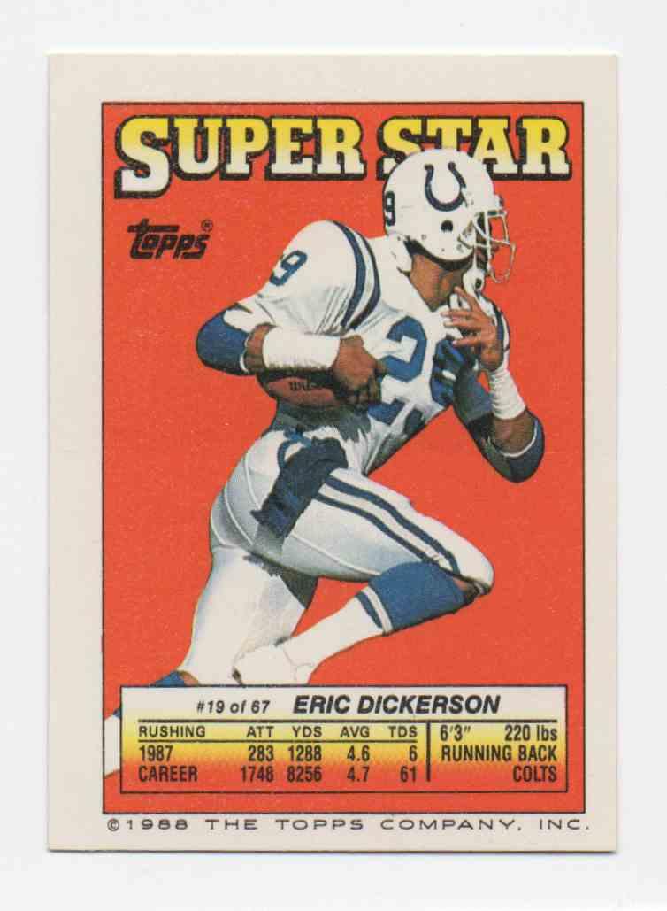1988 Topps Stickers Reggie White & Morten Andersen #284 card back image