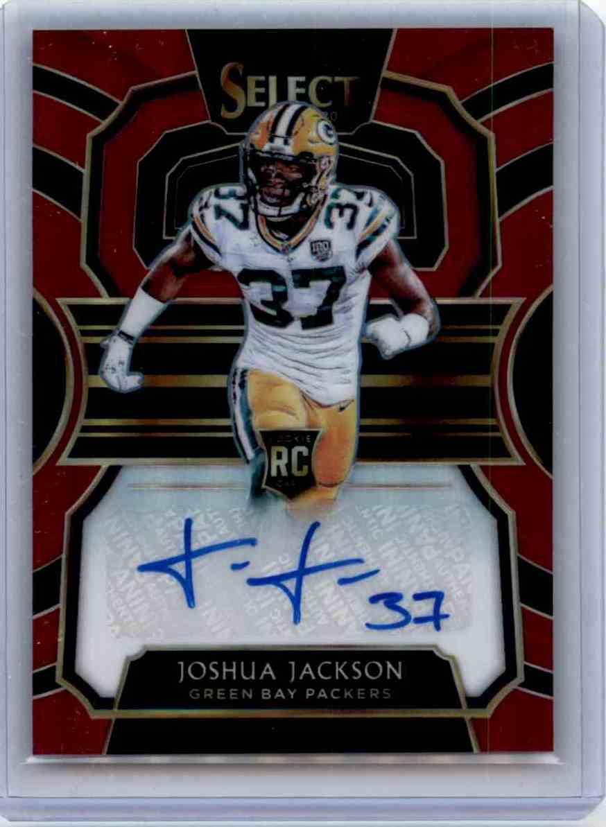 2018 Panini Select Rookie Signatures Prizm Maroon Joshua Jackson card front image