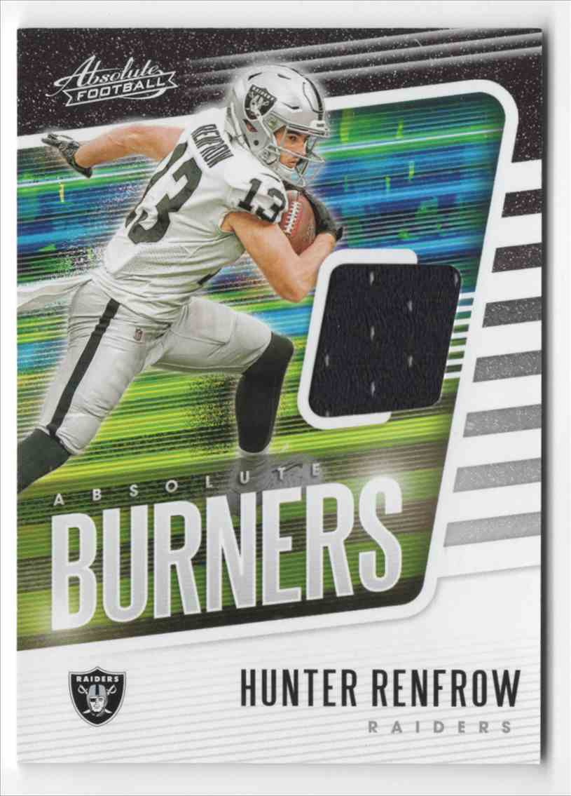 2020 Absolute Absolute Burners Jerseys Hunter Renfrow #13 card front image