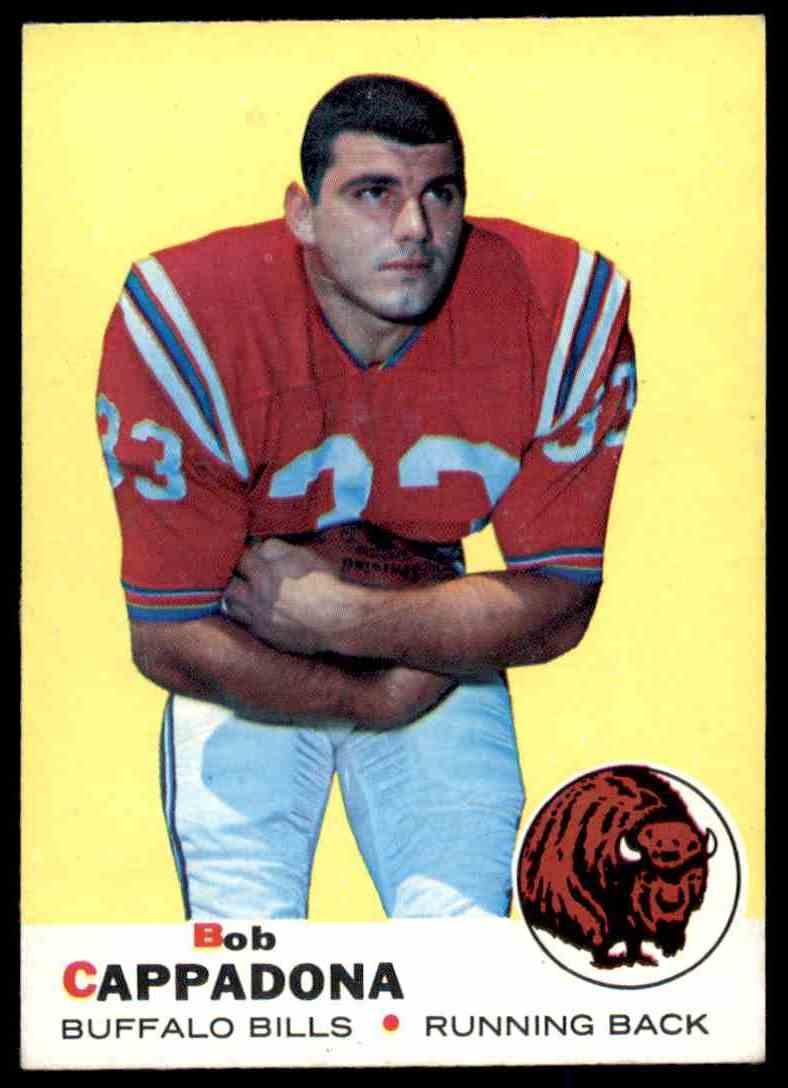 1969 Topps Football Bob Cappadona #40 card front image