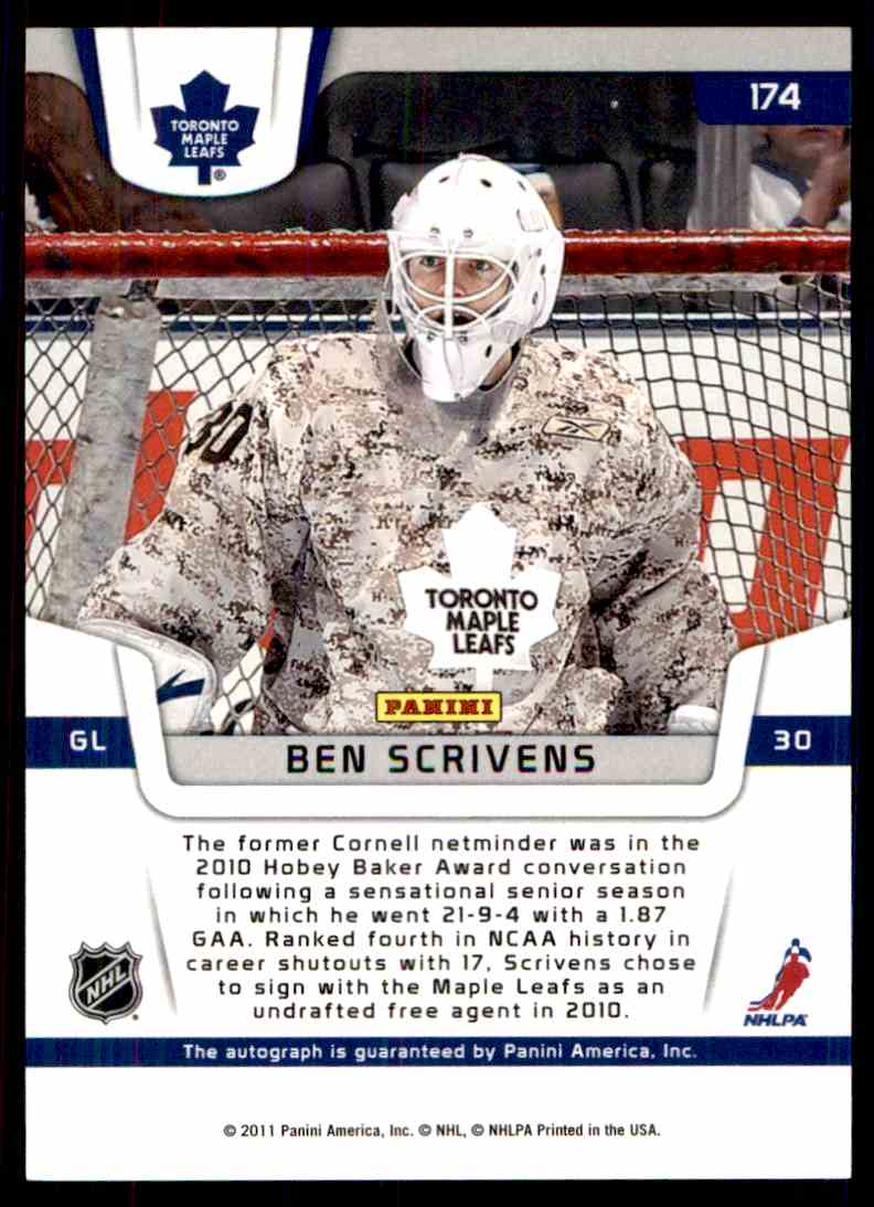 2012-13 Certified ! Mike Connolly #174 card back image
