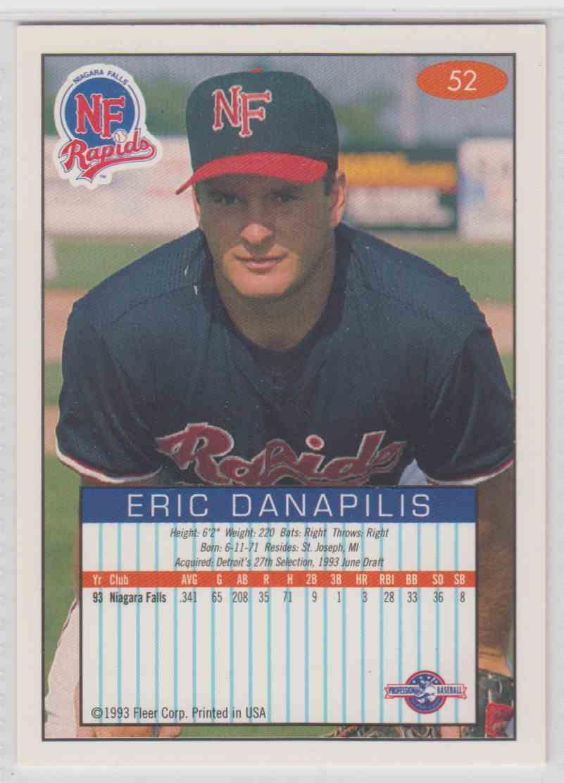 1993 1993 94 Fleer Excel Eric Danapilis 52 On Kronozio