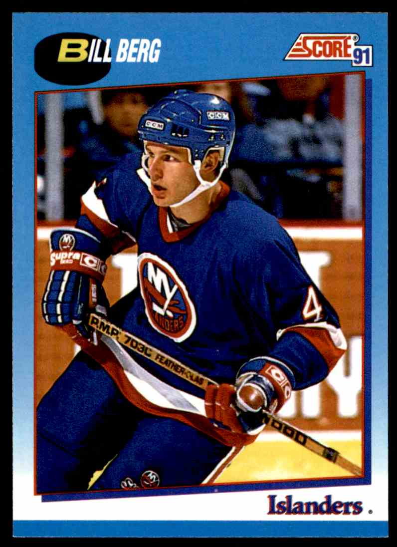 1991-92 Score Canadian Bilingual Bill Berg #541 card front image