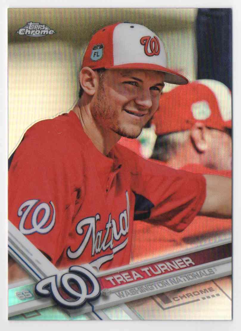 2017 Topps Chrome #194 Trea Turner Washington Nationals Baseball Card