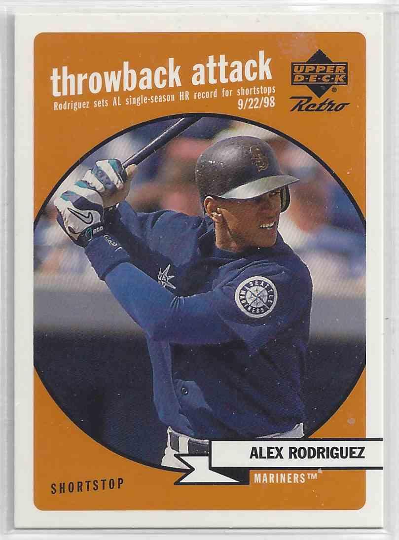 1999 Upper Deck Retro Alex Rodriguez #16 card front image