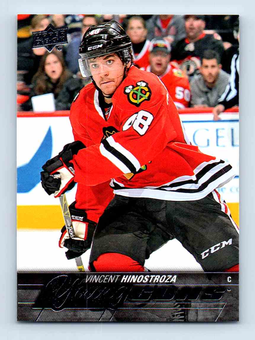 2015-16 Upper Deck Young Guns Vincent Hinostroza #477 card front image