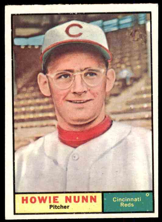 1961 Topps Howie Nunn #346 card front image