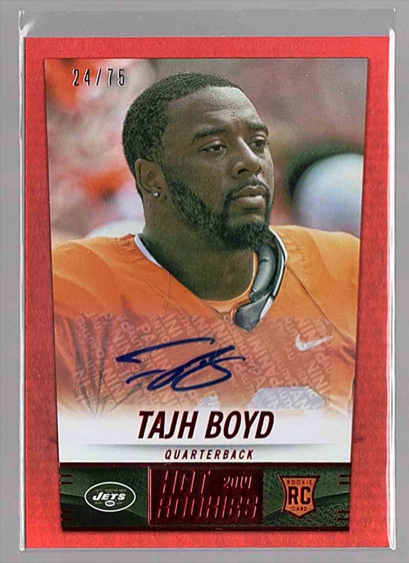 2014 Panini Hot Rookies Rookie Signatures Red Tajh Boyd #424 card front image
