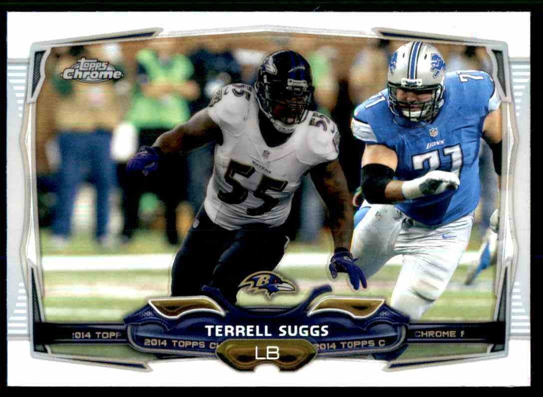 2014 Topps Chrome Refractors Terrell Suggs #37 card front image