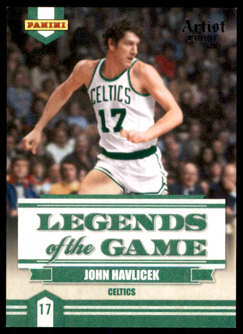2009-10 Panini Legends Of The Game Artists Proof John Havlicek #2 card front image