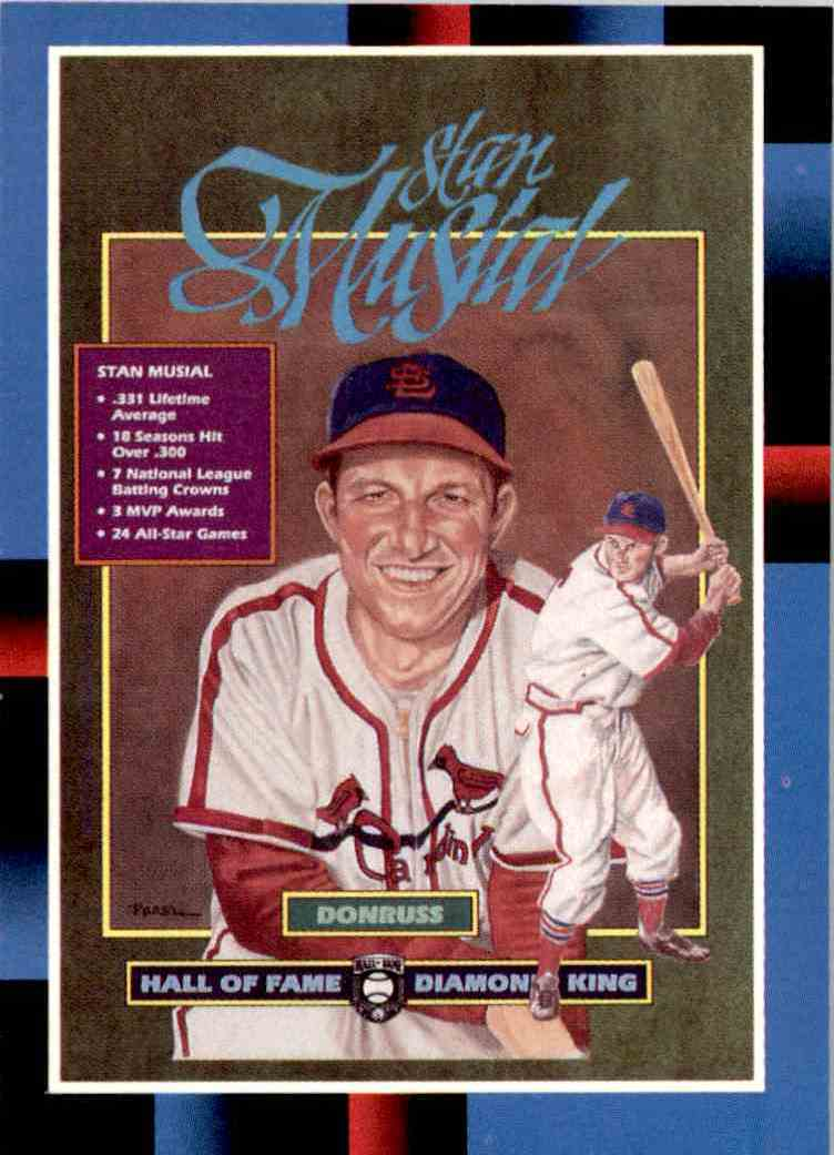 1987 Leaf Hall Of Fame Diamond King Stan Musial 641 On Kronozio