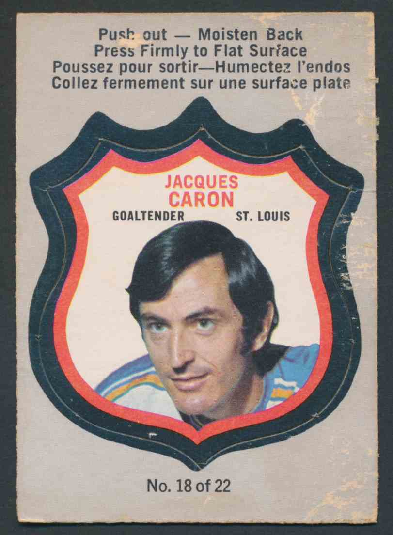 1972-73 O-Pee-Chee Jacques Caron #18 OF 22 card front image