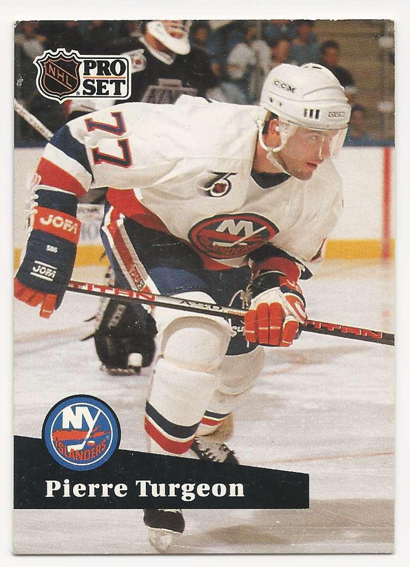 1991-92 Pro Set Pierre Turgeon #433 card front image