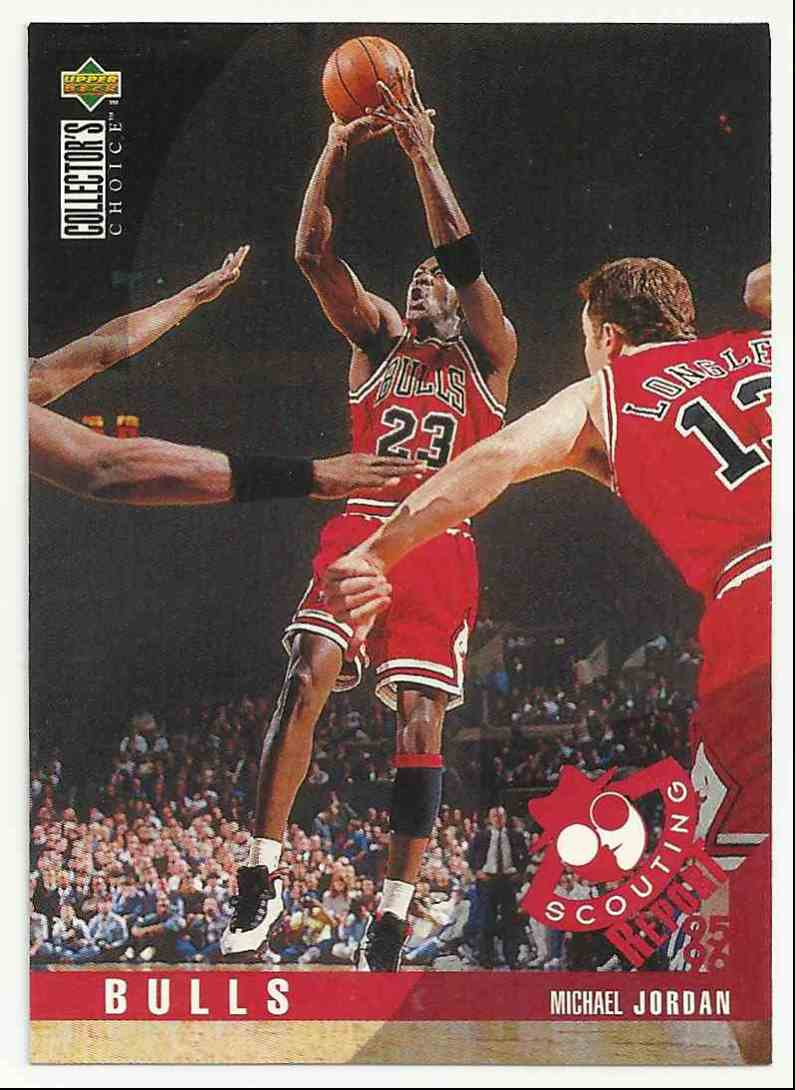 1995-96 Collector's Choice Michael Jordan #324 card front image