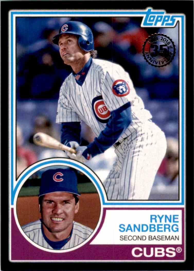 2018 Topps '83 Topps Black Ryne Sandberg #83-1 card front image