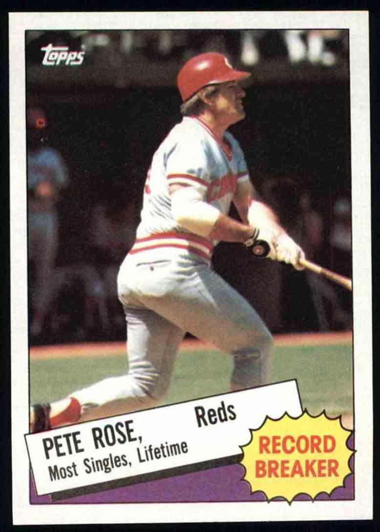 1985 Topps Pete Rose Record Breaker 6 On Kronozio