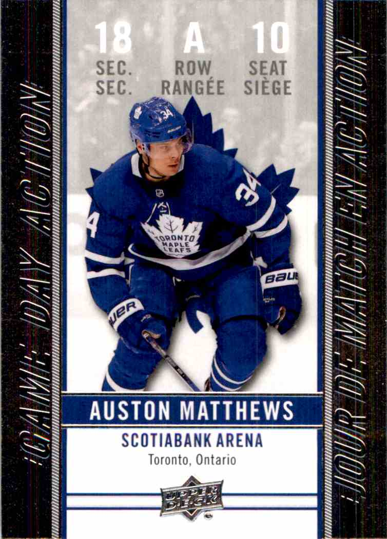 2018 19 Upper Deck Tim Hortons Game Day Action Auston