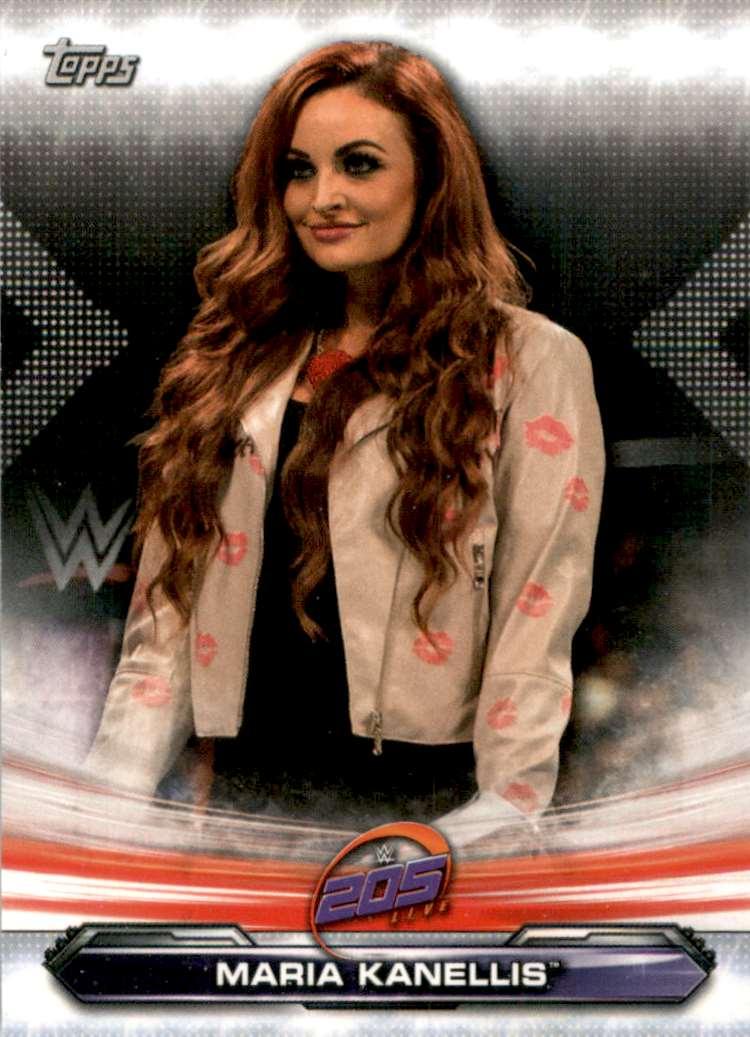 2019 Topps Wwe Raw Maria Kanellis #82 card front image