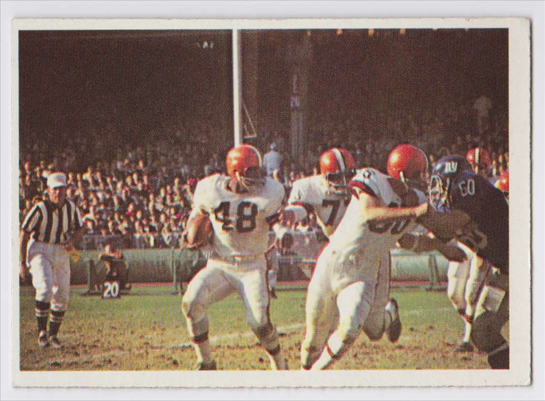1966 Pcgc Browns Vs Giants 1965 #52 card front image