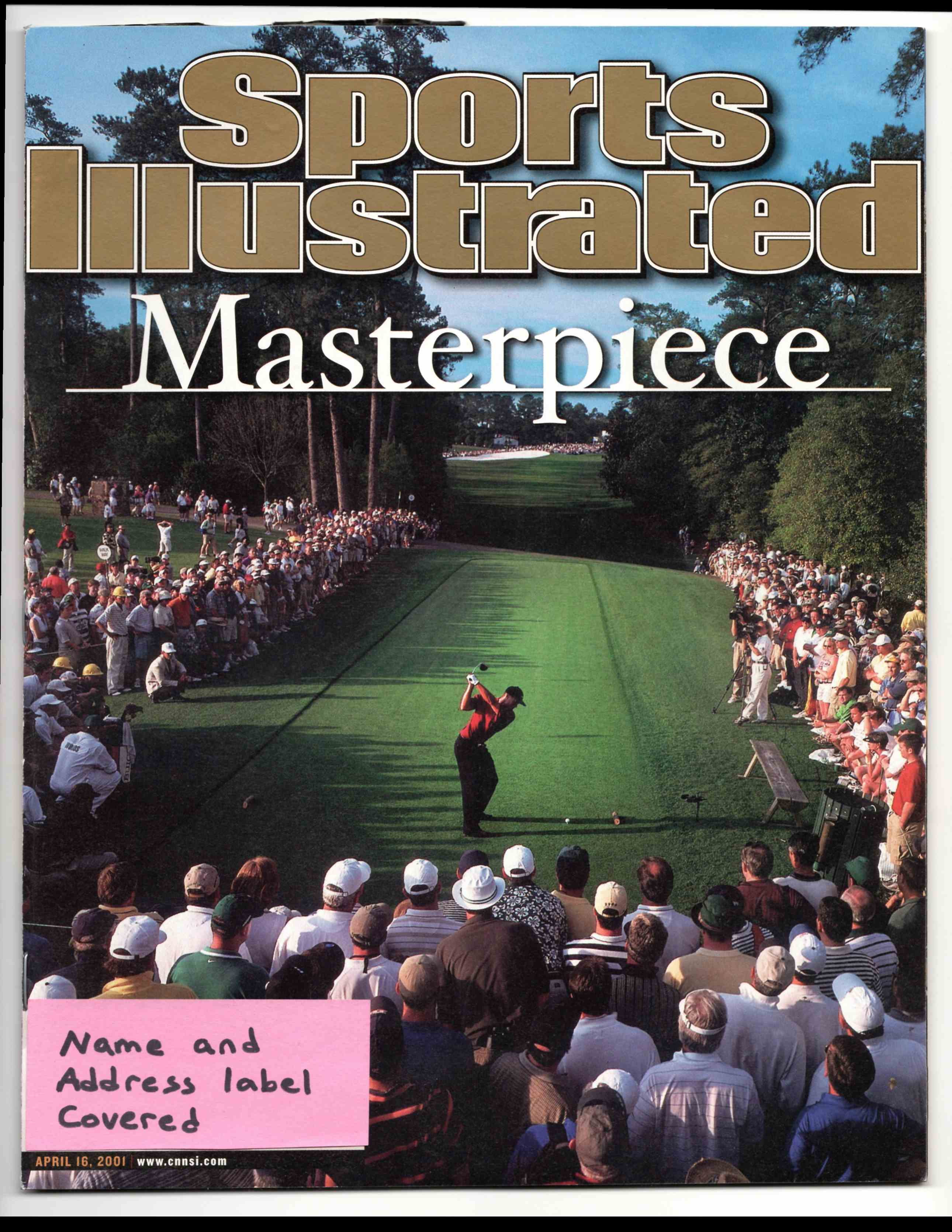 2001 Sports Illustrated Tiger Woods #4-16-01 card front image