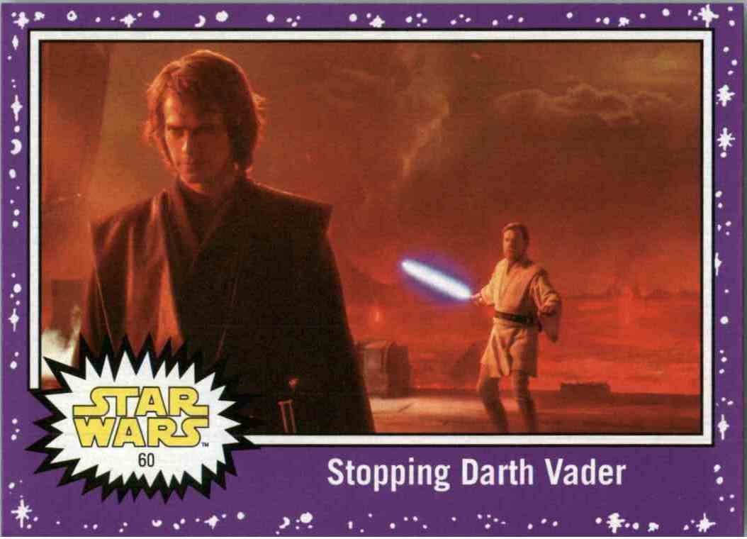 2017 Star Wars The Last Jedi Purple Stopping Darth Vader #60 card front image