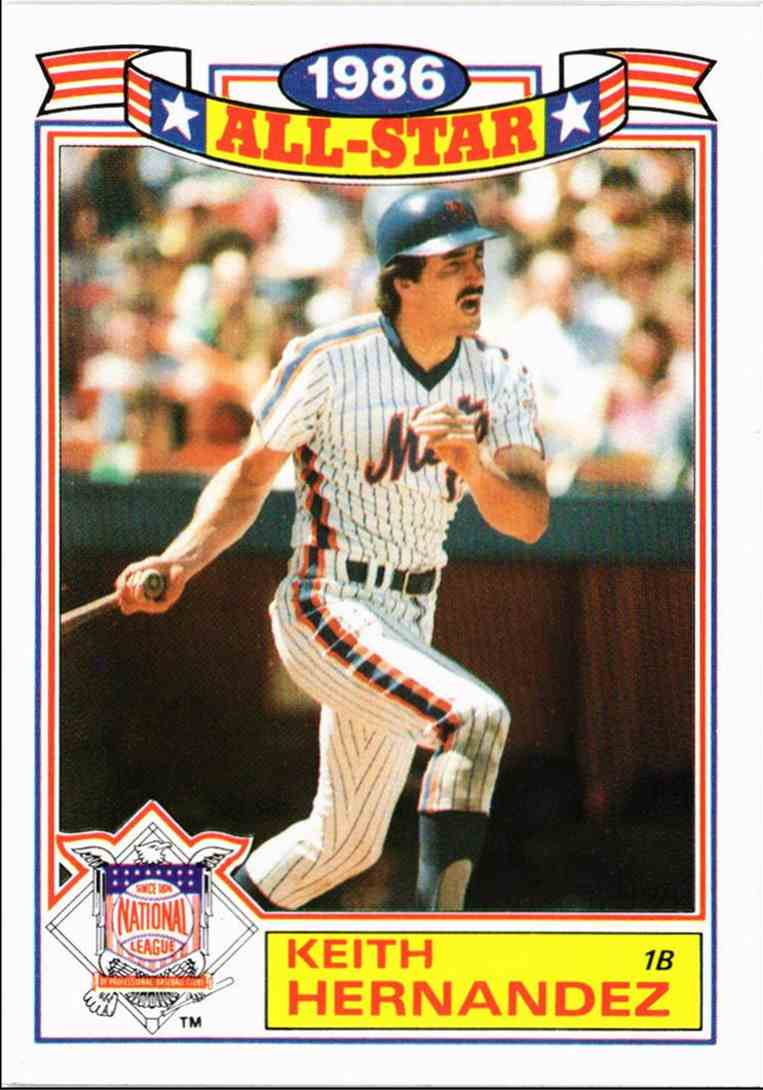 1987 Topps 1986 All Star Game Keith Hernandez 2 On