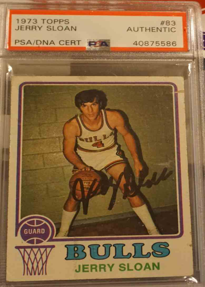 1973-74 Topps PSA DNA Jerry Sloan card front image