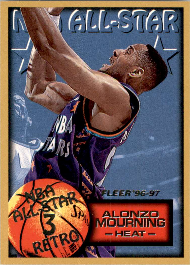 1996-97 Fleer Alonzo Mourning As #292 card front image