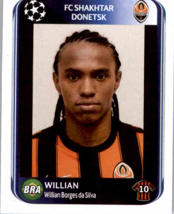 Panini 511 Willian Shakhtar Donetsk UEFA CL 2010//11