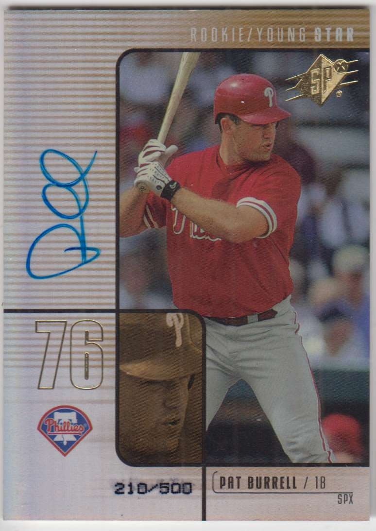 2000 SPx Pat Burrell #104 card front image