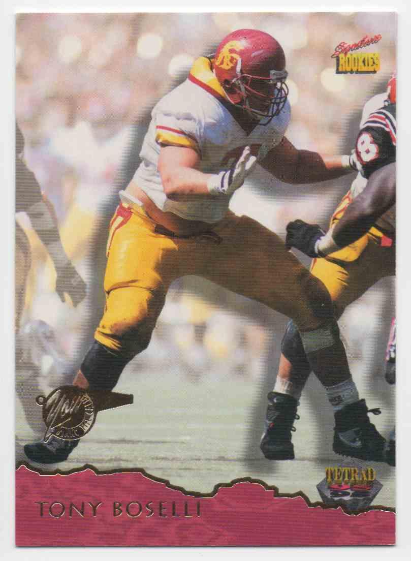 1995 Signature Rookies Tony Boselli #4 card front image