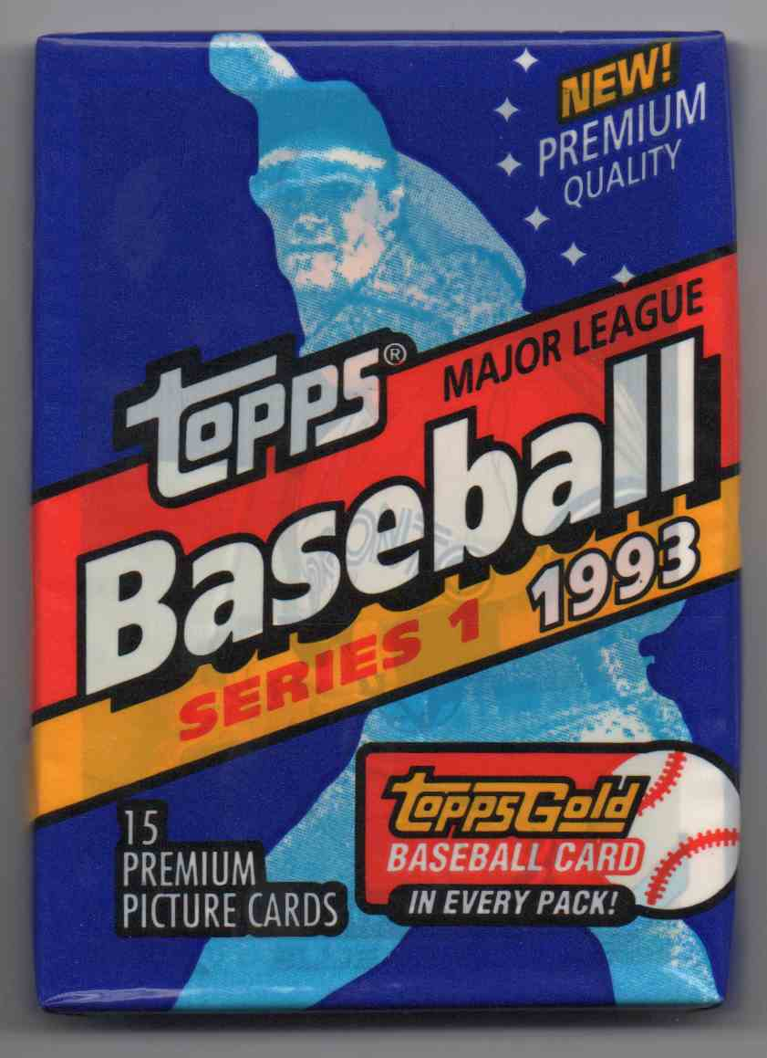 1993 Topps Series 1 Unopened Pack #15 card front image