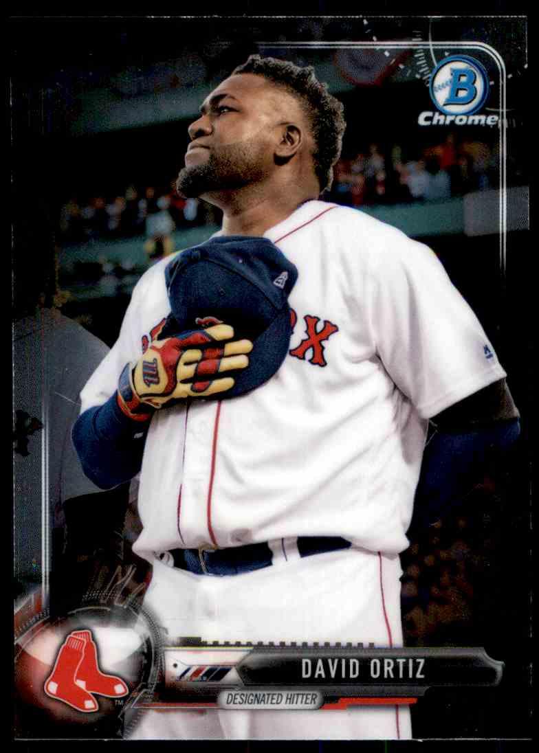 2017 Bowman Chrome David Ortiz #13 card front image