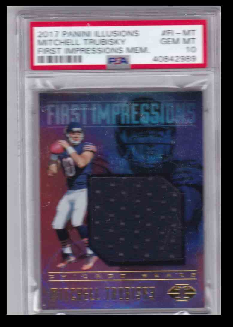 2017 Panini Illusions First Impressions Memorabilia Mitchell Trubisky #989 card front image